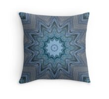 Blue Crystal Star Throw Pillow