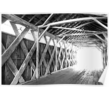 The Light at the End of the Tunnel, Cutler-Donahoe Covered Bridge Poster