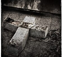 """ Tin Cross "" ... Graveyard Adornments #62 by Malcolm Heberle"