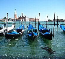 Blue Gondole - Venice, Italy by Céline C