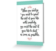 When Harry Met Sally - The Rest of Your Life Greeting Card