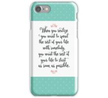 When Harry Met Sally - The Rest of Your Life iPhone Case/Skin