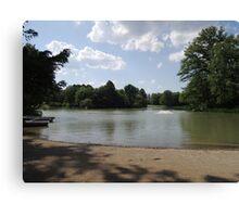 Sandbank at Nature Park Lake Canvas Print