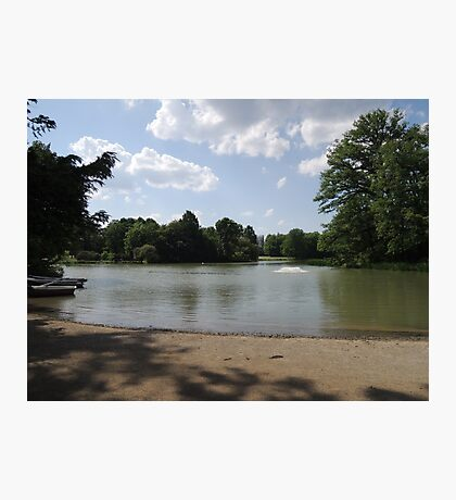 Sandbank at Nature Park Lake Photographic Print