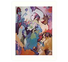 Finger Paint Viscosity Art Print