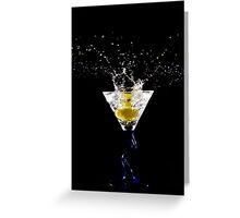 Martini Splash 01 Greeting Card