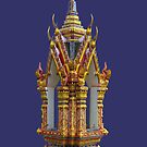 Thailand-Shrine at Wat Nuan Naram- Samui by DAdeSimone