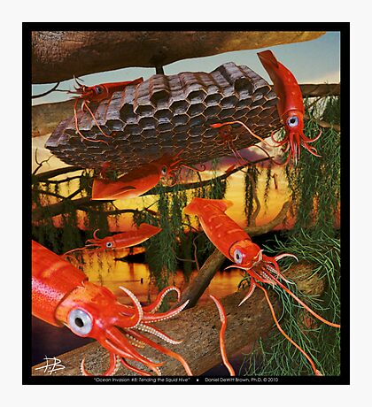 Ocean Invasion #8: Tending the Squid Hive Photographic Print