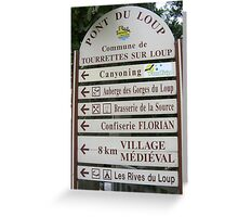 Signpost in France Greeting Card