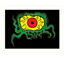 Crawling Eye Monster Art Print