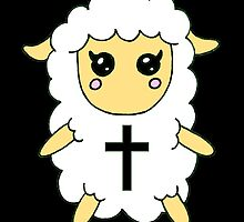 White Sheep with Cross by hausofophidia