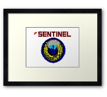 The Sentinel - 80's video games Framed Print