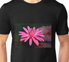 Large Pink Water Lily Unisex T-Shirt