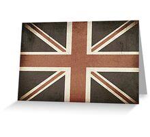 Vintage United Kingdom Flag Greeting Card