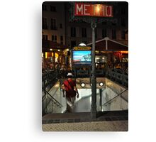Metro descent Canvas Print