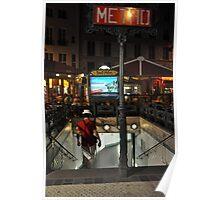 Metro descent Poster