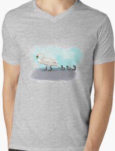 Swans Crossing Mens V-Neck T-Shirt