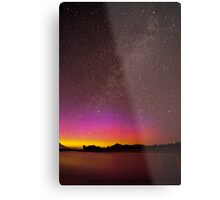 Northern Lights Over the Snake River Metal Print