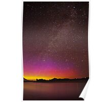 Northern Lights Over the Snake River Poster