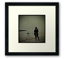 When the drugs dont work we head for the sea... Framed Print
