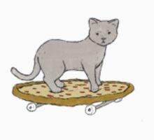 Skateboarding Pizza Cat by austinnbainn