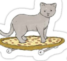 Skateboarding Pizza Cat Sticker