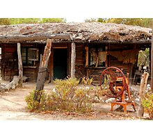 Australian Heritage Town Trappers Hut Photographic Print
