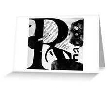 Abstract Letter Art - Texture Greeting Card