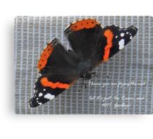 Au Revoir Butterfly card Canvas Print