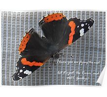 Au Revoir Butterfly card Poster
