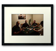 The Poker Game II Framed Print