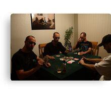 The Poker Game II Canvas Print