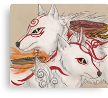 Amaterasu and Shiranui Canvas Print