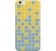 Maize and Blue Weave Gradient iPhone Case/Skin