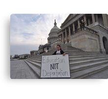 Education not Deportation Canvas Print