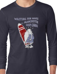 Manchester Surfer (Waiting for Waves) Long Sleeve T-Shirt