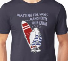 Manchester Surfer (Waiting for Waves) Unisex T-Shirt