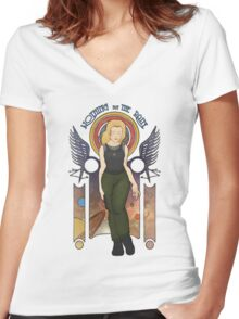 What do you Hear? Women's Fitted V-Neck T-Shirt