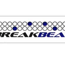 Breakbeat Music Production Pattern Sticker