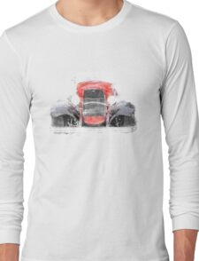 1932 Ford Roadster Red and Black Convertible Long Sleeve T-Shirt