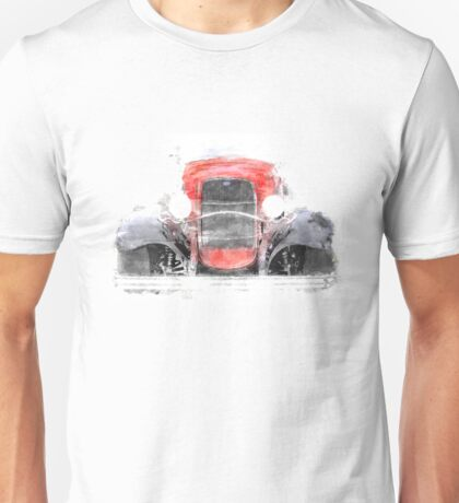 1932 Ford Roadster Red and Black Convertible Unisex T-Shirt