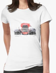 1932 Ford Roadster Red and Black Convertible T-Shirt