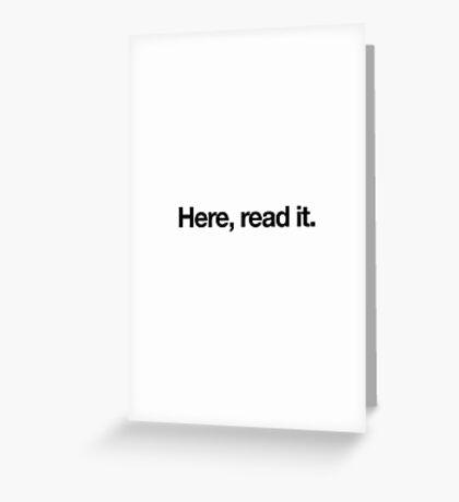Literary Greetings - Read It Greeting Card