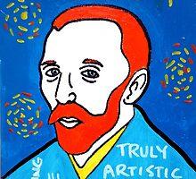 Vincent van Gogh pop folk art by krusefolkart