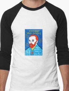 Vincent van Gogh pop folk art Men's Baseball ¾ T-Shirt