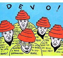 Are we not men! We are DEVO! -  Pop folk art  by krusefolkart