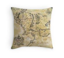 Map of Middle Earth Throw Pillow