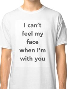 """The Weeknd """"Cant Feel My Face"""" Classic T-Shirt"""