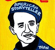 Woody Guthrie Folk Art by krusefolkart