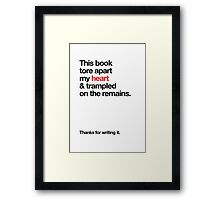 Literary Greetings - Torn Heart Author Framed Print